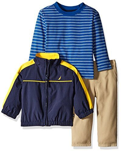 9f35becbd Nautica Baby Boys' Three Piece Outerwear Set With Anchor Jacket, Tee and  Pant