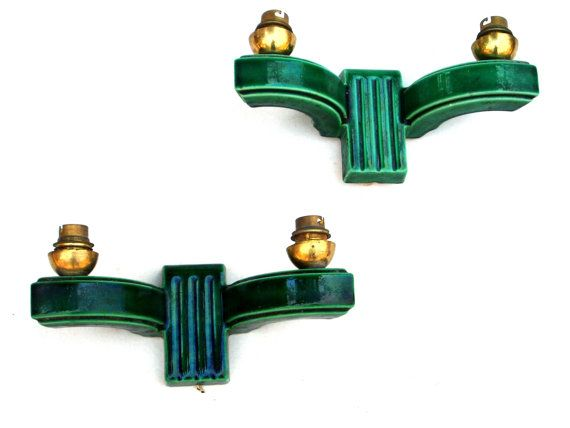 French Art Deco Wall Lights Antique Ceramic Glazed Lighting Home Decor Wall Mounted Lamp Sconce