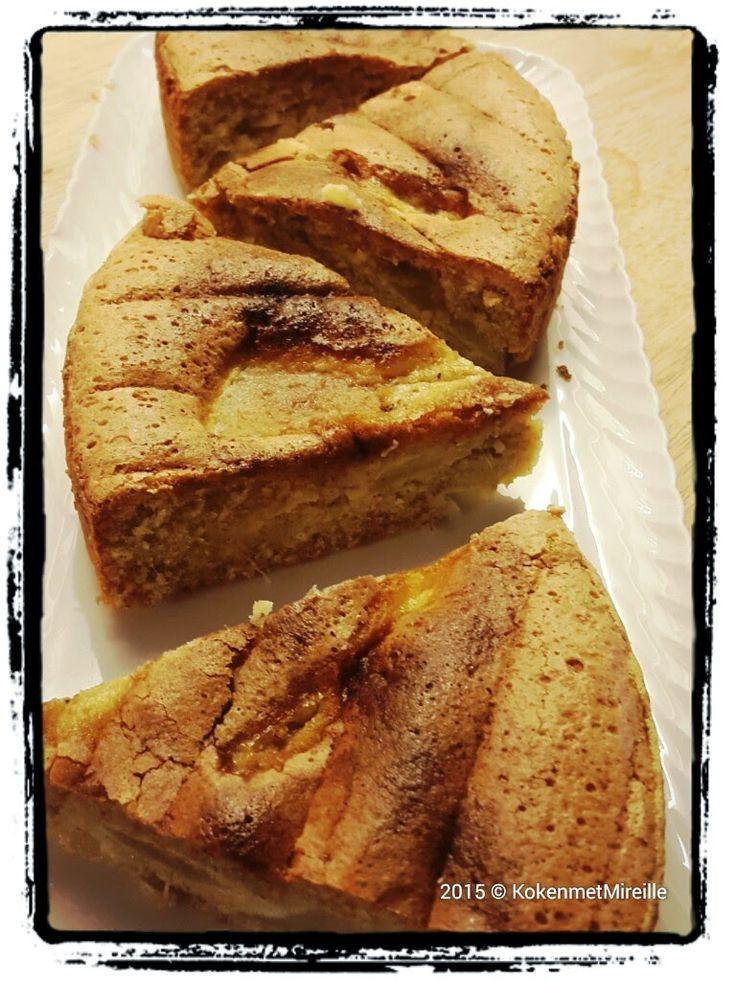 Mireille's pure keuken.: Cake met peer en gember.