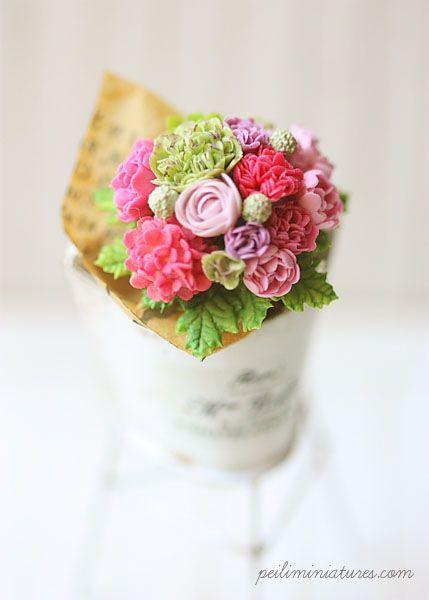 Dollhouse Miniature Summer Flower Bouquet