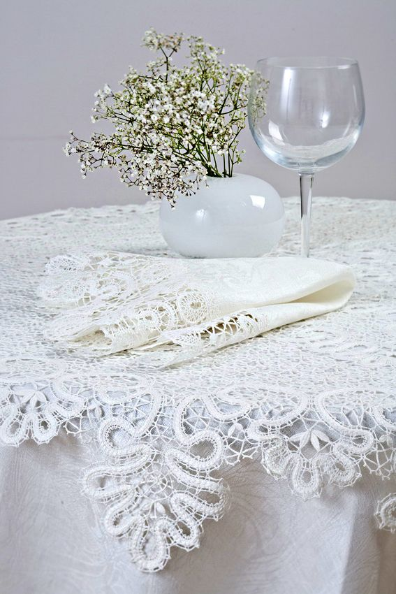 Russian lace tablecloth. #beauty #design #lace #Russian