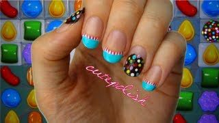 candy crush nail art - YouTube