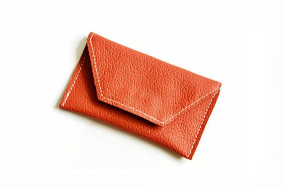Business Card Leather Holder Leather wallet Credit by PansyBag