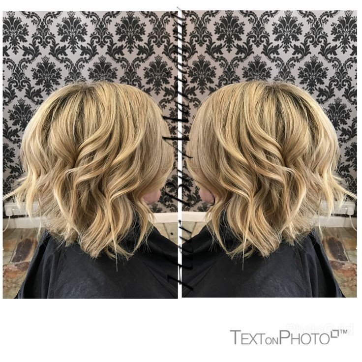 Textured blonde by cut short lob @hairbymarianna at Blush Beauty Studio