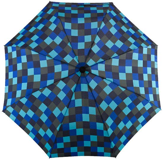 Dainty Automatic Umbrella Blue Check: This automatic trekking Euroschirm Dainty umbrella convinces with… #Hotels #CheapHotels #CheapHotel