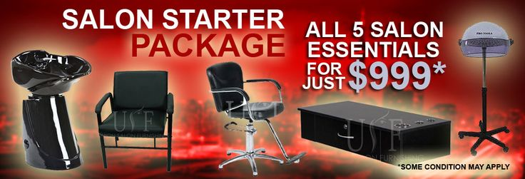 A combo pack of five essential salon equipments only for $999*