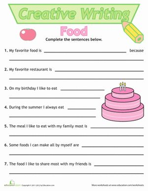 creative writing worksheets for   year olds Busy Teacher