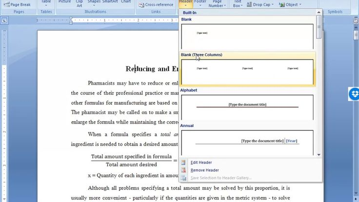 how to create different headers in word