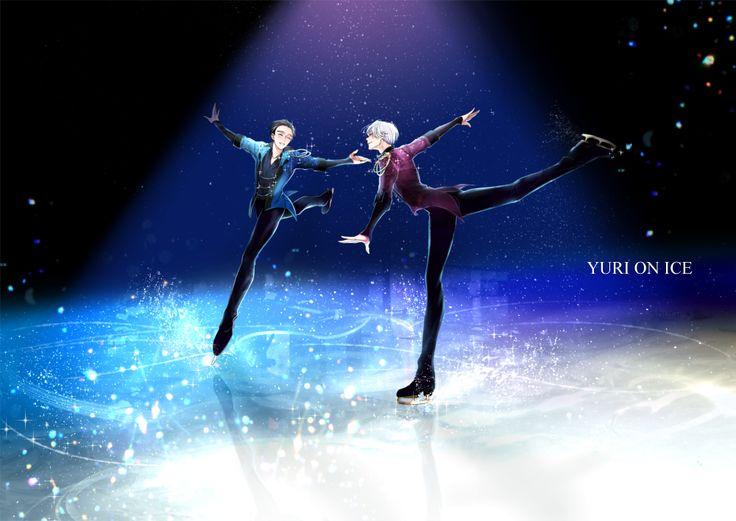 Yuuri and Victor - Yuri!!! on Ice by shura on pixiv