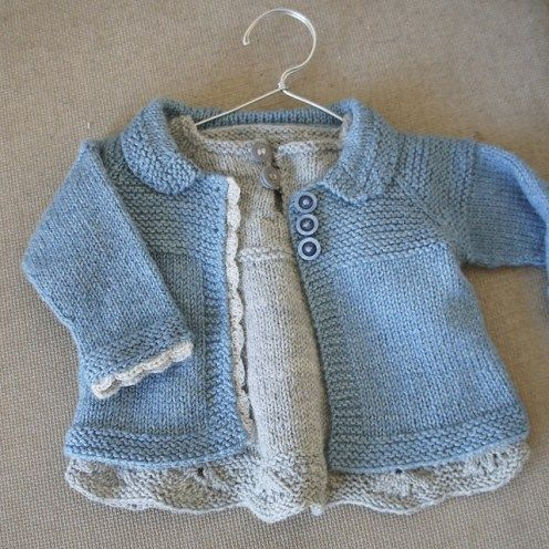 Baby Girl Sweater Patterns Knitting : Baby Cardigan Sweater Knitting Patterns Baby cardigan, Knitting patterns an...