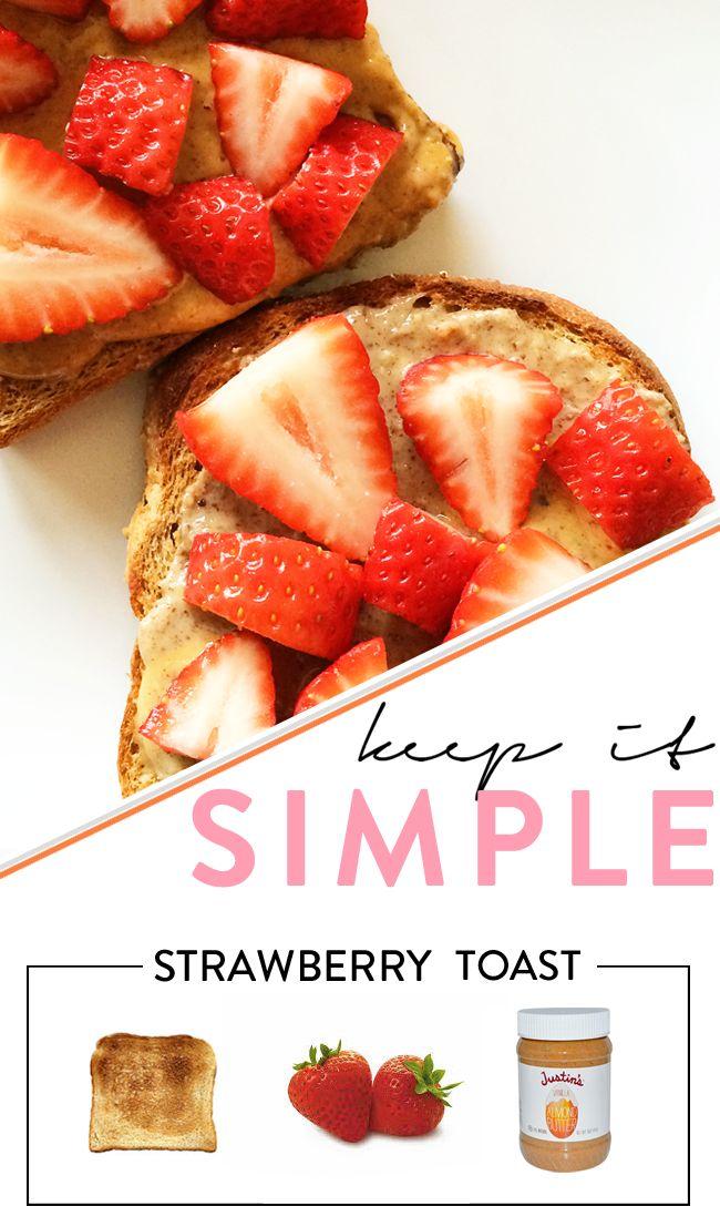 Strawberry + PB Toast