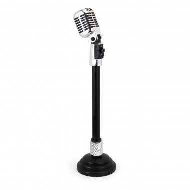 IMAX Vintage Microphone with Stand - 36134