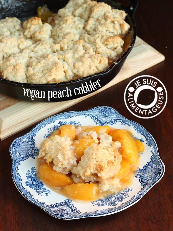 Vegan Peach Cobbler | Use unrefined sweetener