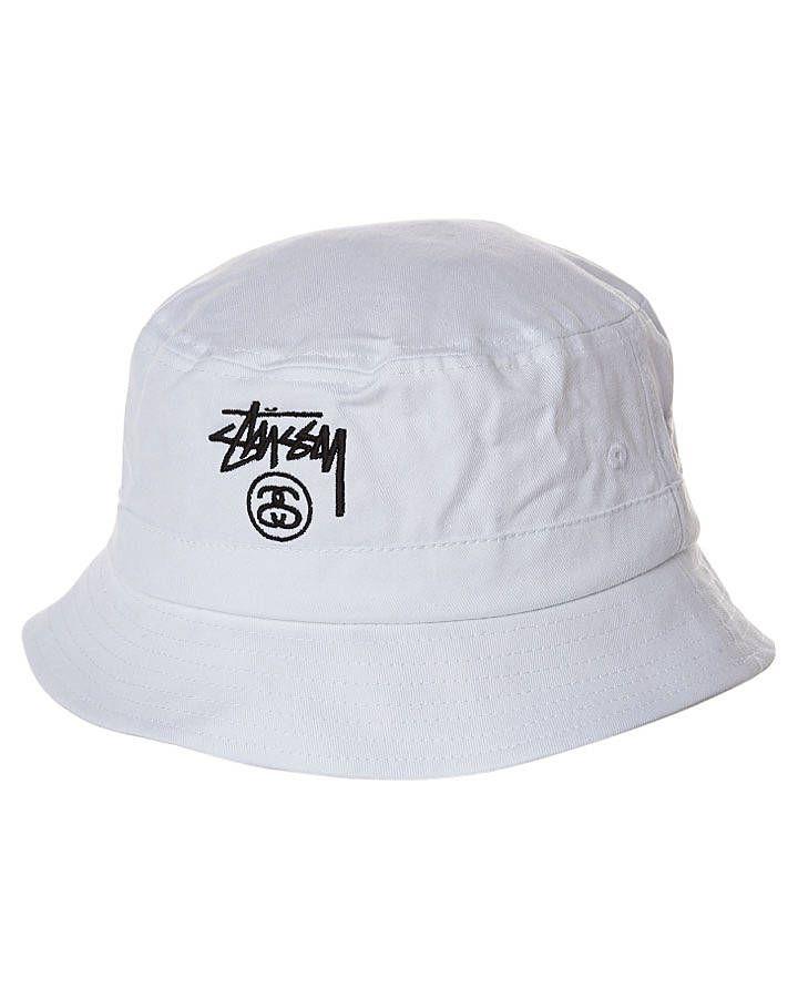 Stussy bucket hat white