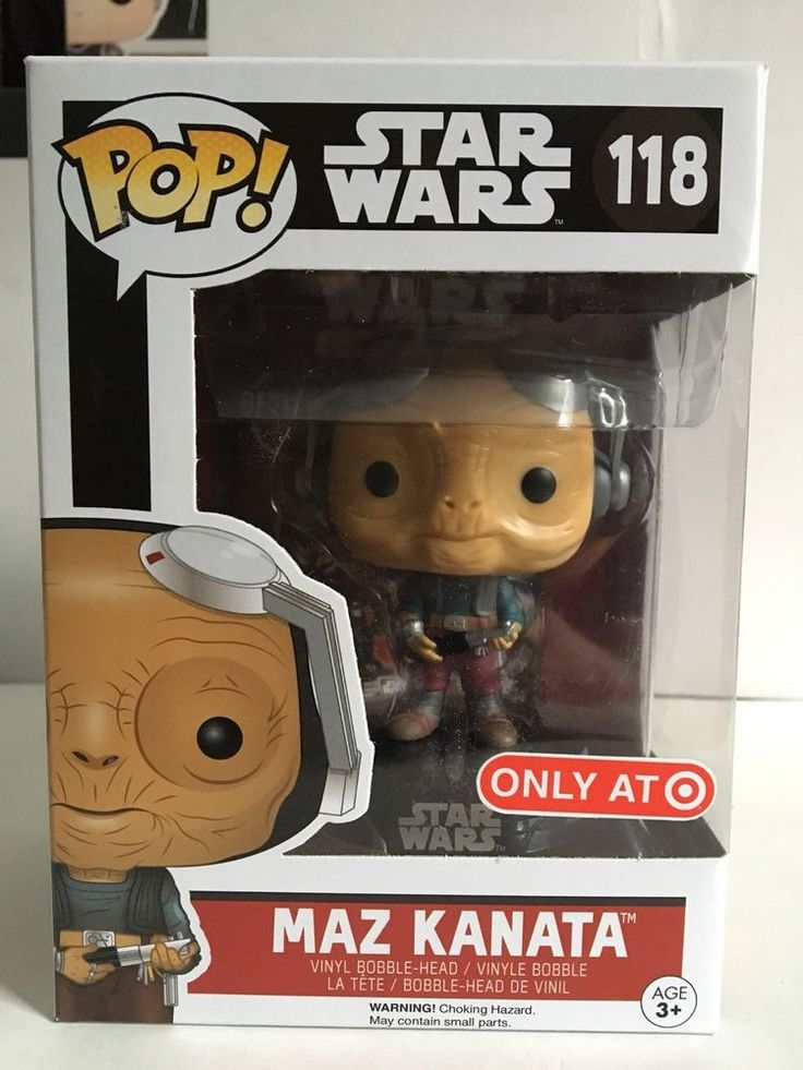Funko POP! Star Wars MAZ KANATA 118 Target Exclusive Vinyl Bobble Head Figure  | eBay