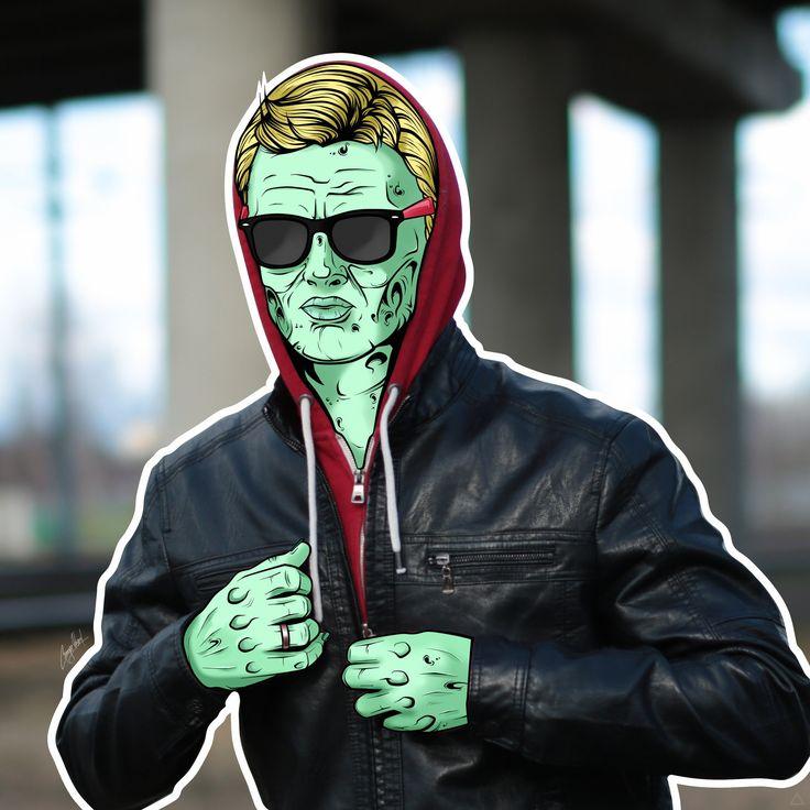 А вот и вторая моя графическая работа, ещё немного поиздеваюсь над собой и буду браться за других. #zombie #art #zombieart #man #зомби #арт #граф #GeorgeKasent #kasentarts