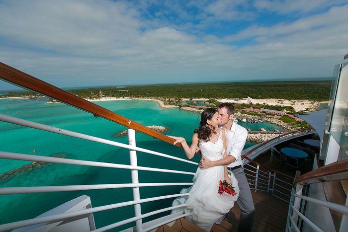 I adore this shot of Castaway Cay! Disney Dream Wedding. Disney Cruise Wedding. Jessica Lea Photography