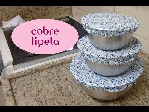 Como fazer cover bowls (tampa de tecido) - YouTube