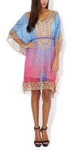 Kat & Magee Crystal Embellished Kaftan  $99  size med  -  can be worn without belt  (rrp $180)