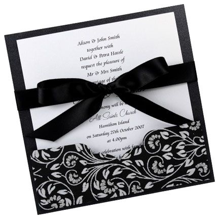 wedding invitations | ... the Classy Style of Black Wedding Invitations | Wedding Planning