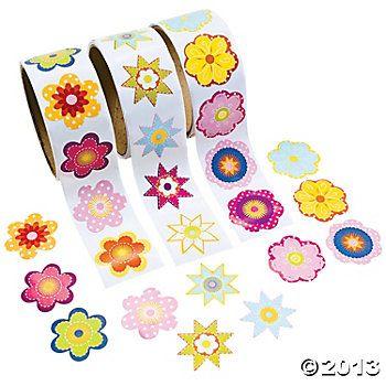 Flower Roll Sticker Assortment