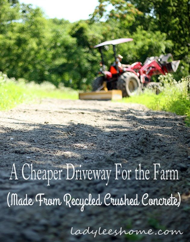 Crushed Concrete Driveway. An affordable alternative to expensive gravel. #LadyLeesHome