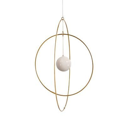 Find Galaxy Globe from Kaja Skytte at Stilleben. Galaxy Globe is an elegant pendant made of brass rings and marble. Buy before noon and we ship the same day