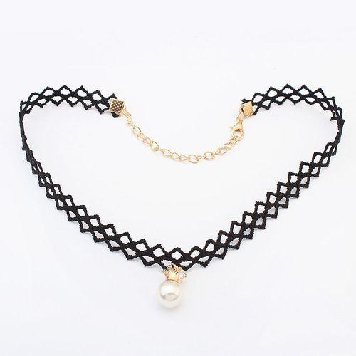 Choker Gothic Perle Halsband 90er Trend