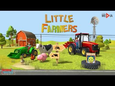 Tracteur Pour Bébés, Moissonneuse Batteuse Dessin Animé, Animaux De La F...
