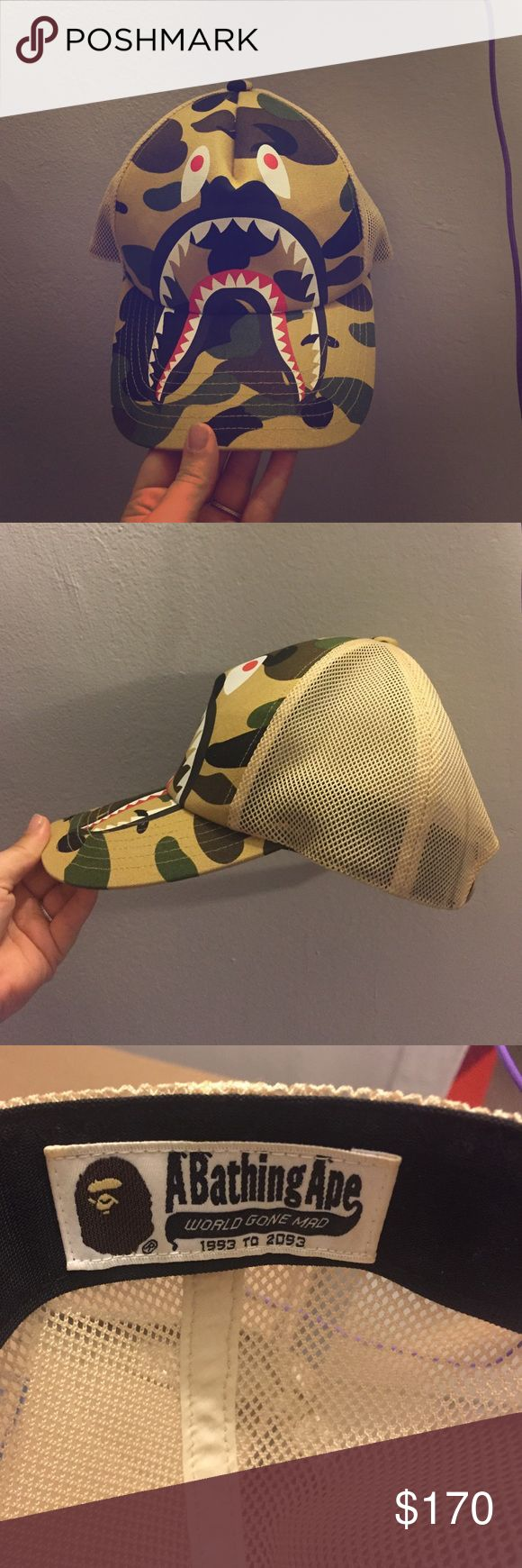 Bape trucker hat Sold out, authentic bought on the bape website feel free to ask any questions! Offers as well Accessories Hats