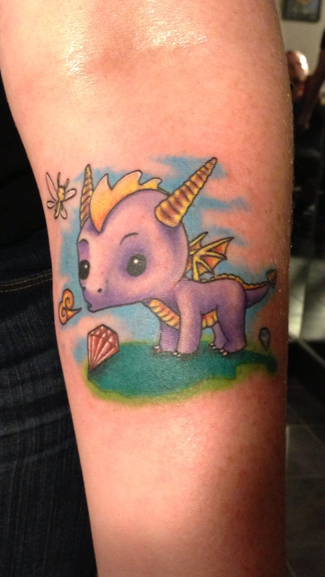 Spyro tattoo video games life tattoos pinterest for The game tattoos