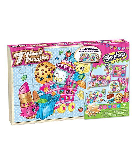 Shopkins™ Seven-Piece Wood Puzzle Set