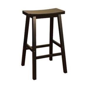 american heritage billiards 124802blk wood 24 inch saddle bar stool in black