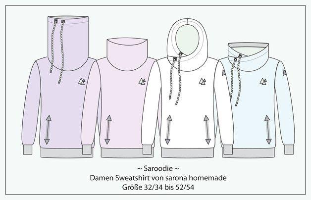 Nähanleitungen Mode - Ebook Saroodie - Sweatshirt für Damen Gr. XS-XXXXL - ein Designerstück von StoffLoft bei DaWanda