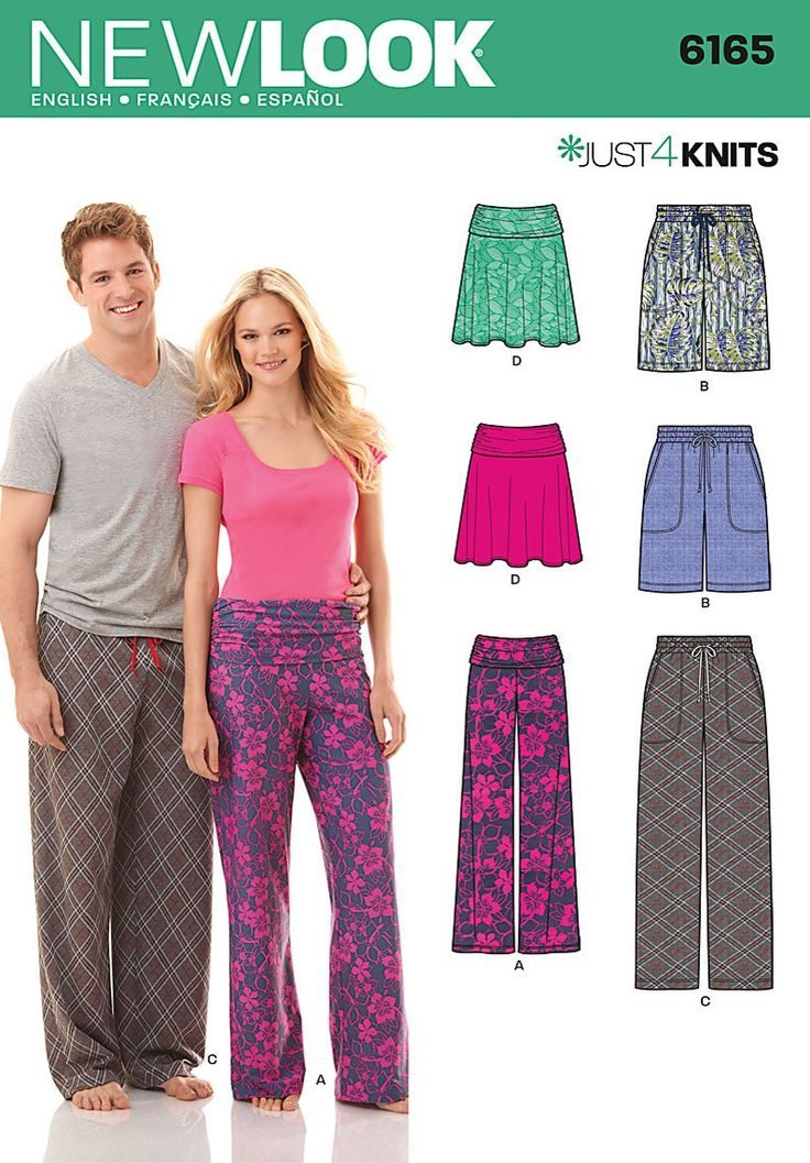 New Look Misses and Mens Pants and Shorts and Misses Skirt 6165