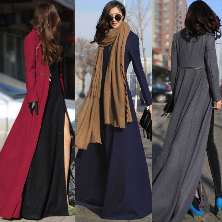 New Womens Long Winter Trench Military Coat Dress Ladies Parka Jacket Plus Size in Clothes, Shoes & Accessories, Women's Clothing, Coats & Jackets | eBay