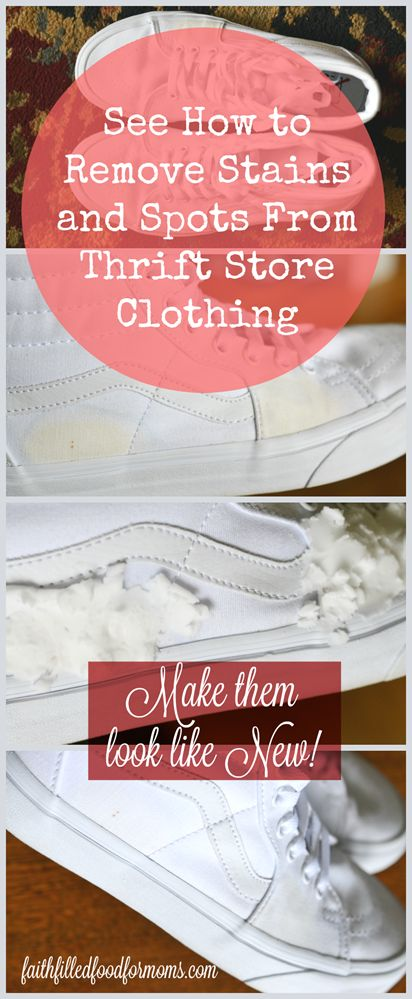 How to Remove Stains and Spots From Thrift Store Clothing. Learn simple stain and spot removal.  Odor removal and a simple mend to thrift store clothes! Don't pass up those fashion bargains just because of a simple spot!