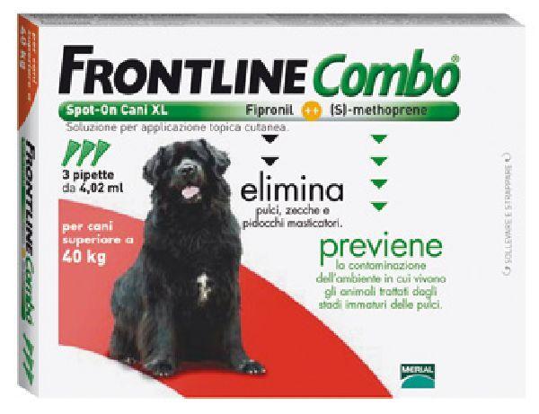 FRONTLINE ANTIPARASSITARIO PULCI ZECCHE COMBO SPOT-ON 40 - 60 KG. https://www.chiaradecaria.it/it/antiparassitari-cani-e-gatti/7389-frontline-antiparassitario-pulci-zecche-combo-spot-on-40-60-kg.html