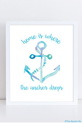 "DG ""Where the Anchor Drops"" Art Print 