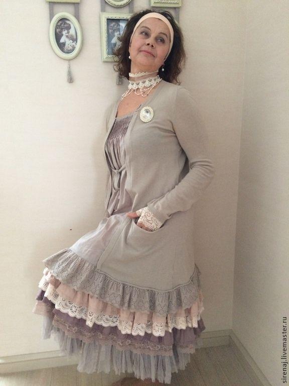 Платье  Мори / Бохо Шик беж - Евгения - Ярмарка Мастеров