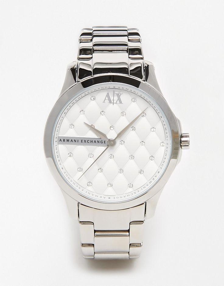 Armani+Exchange+Silver+Lady+Hampton+Watch