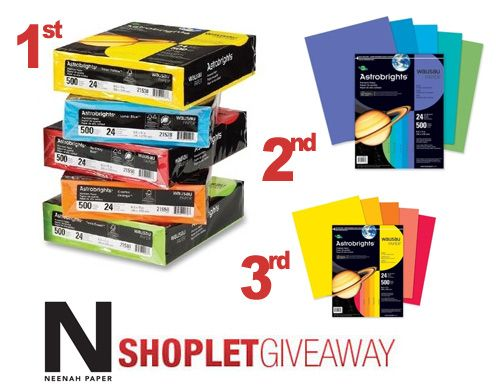 neenah astro brights giveaway Win Neenah Astrobrights Paper! @Astrobrights by Neenah Paper  @Shoplet Discount Office Supplies