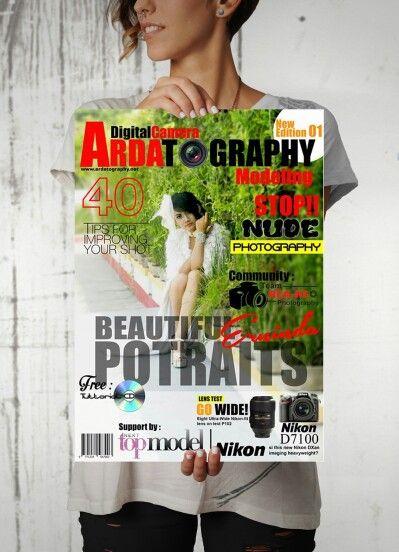 Layout magazine Ardatography edition Beautiful potraits Erninda