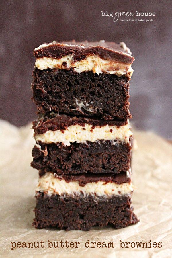 Jun 24, 2020 – Peanut Butter Dream Brownies- Big Green House #peanutbutter #chocolate #brownies #dessert