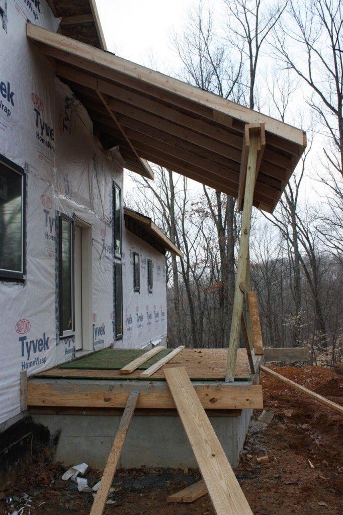 The Front Porch Roof Will Next Be Wired For A Ceiling Fan To Create Summer  Breezes · VordachVerandaDeckenventilatorenDecken