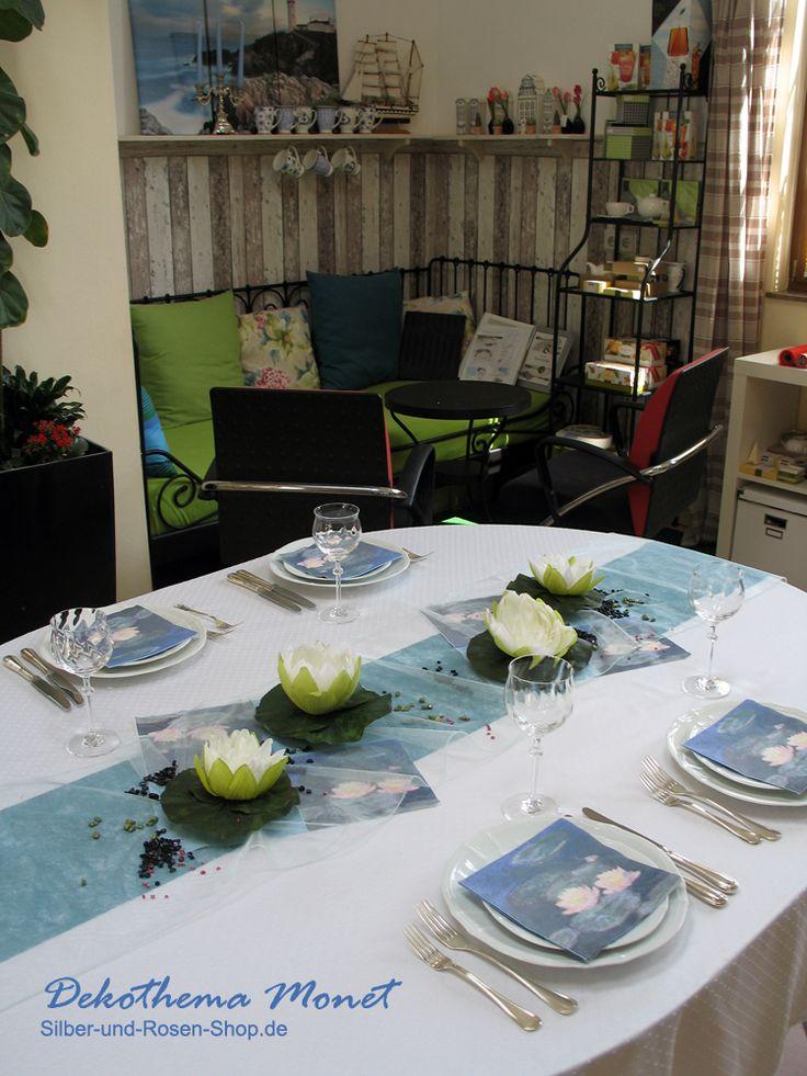 Im Shop anzusehen. Tischdeko nach Monet.