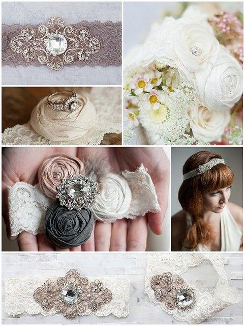 rhinestone lace wedding headbands