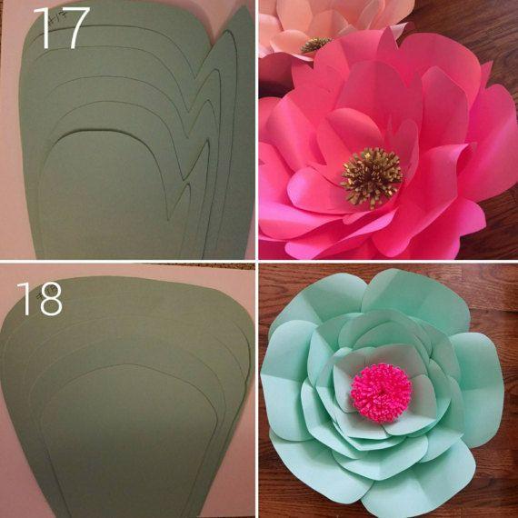 Molde de Flores de Papel por Paperflowersgarden en Etsy