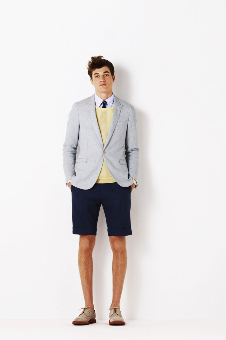 minus the yellow sweater and it looks like a great summer look
