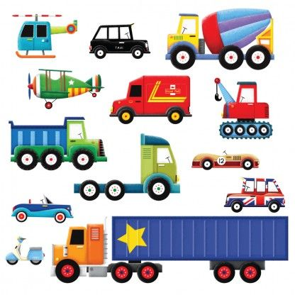 boys wall stickers childrens wall stickers transportation room ...